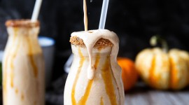 Pumpkin Milkshake Wallpaper For IPhone