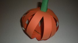 Pumpkin Out Of Paper Photo