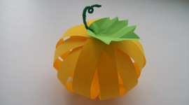 Pumpkin Out Of Paper Wallpaper