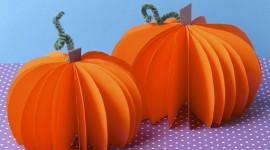 Pumpkin Out Of Paper Wallpaper Free