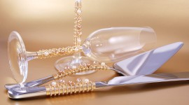 Wedding Glasses Wallpaper