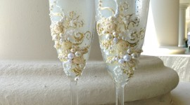 Wedding Glasses Wallpaper For IPhone