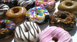 4K Doughnuts Desktop Wallpaper HD