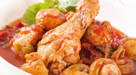 Chicken With Champignons Wallpaper Free