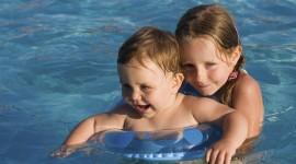 Children In The Pool Wallpaper Download