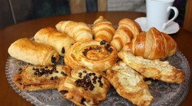 Croissants With Chocolate Wallpaper