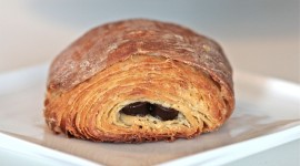 Croissants With Chocolate Wallpaper Background