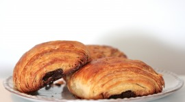 Croissants With Chocolate Wallpaper Download