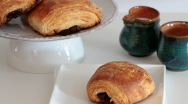Croissants With Chocolate Wallpaper Download Free