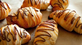 Croissants With Chocolate Wallpaper For Desktop