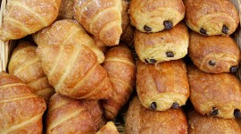 Croissants With Chocolate Wallpaper Free
