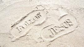 Footprints Of Jesus Christ Photo