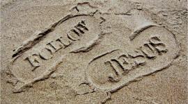 Footprints Of Jesus Christ Wallpaper