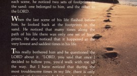 Footprints Of Jesus Christ Wallpaper For IPhone