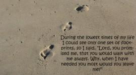 Footprints Of Jesus Christ Wallpaper For Mobile#1