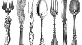 Forks For Food Wallpaper