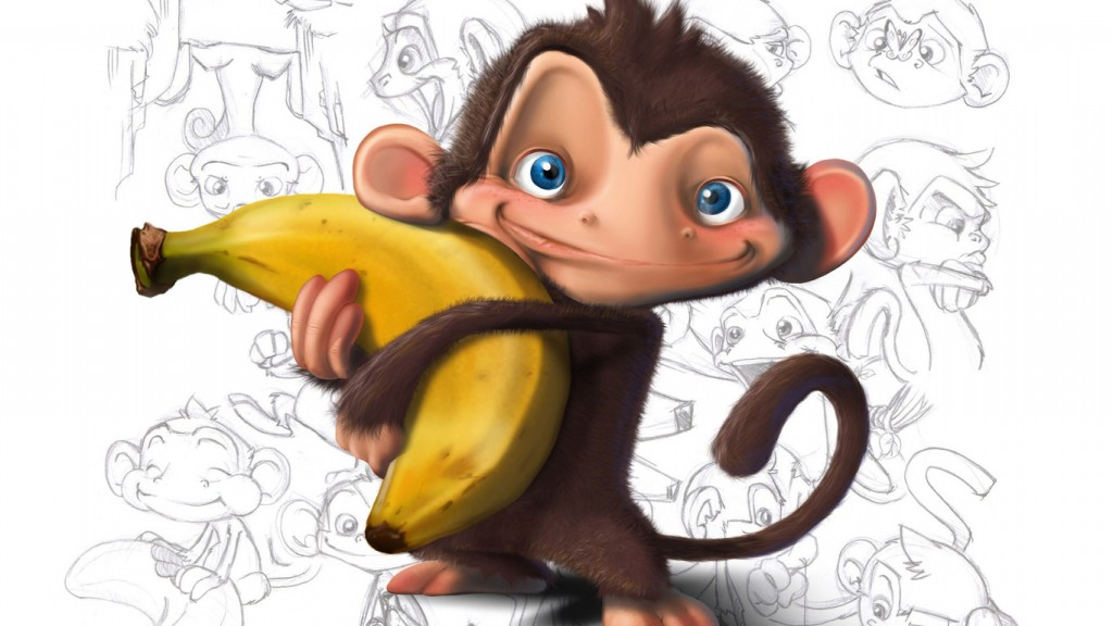 Monkey And Banana wallpapers HD