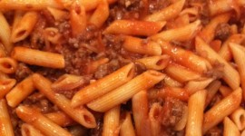 Pasta With Meat Wallpaper For IPhone