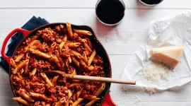Pasta With Meat Wallpaper Full HD