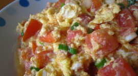 Scrambled Eggs In Tomatoes Desktop Wallpaper HD