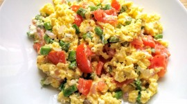 Scrambled Eggs In Tomatoes Wallpaper Download Free
