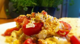 Scrambled Eggs In Tomatoes Wallpaper For Desktop