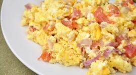 Scrambled Eggs In Tomatoes Wallpaper Full HD