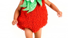 Strawberry Costume Wallpaper For IPhone