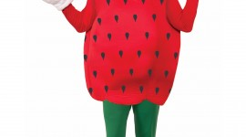 Strawberry Costume Wallpaper For IPhone#1