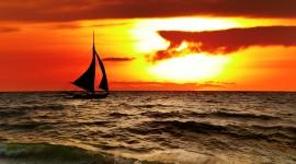 4K Silhouette Sunset Wallpaper Free