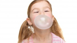 Bubbles Of Chewing Gum High Quality Wallpaper