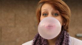 Bubbles Of Chewing Gum Wallpaper HQ
