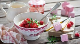 Cottage Cheese With Jam Wallpaper
