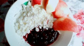 Cottage Cheese With Jam Wallpaper For IPhone