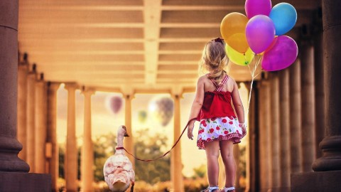 Girl With Balloon wallpapers high quality