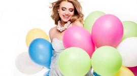 Girl With Balloon Desktop Wallpaper