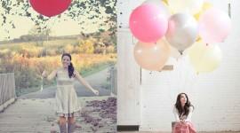 Girl With Balloon Pics
