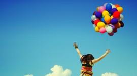 Girl With Balloon Wallpaper