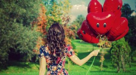 Girl With Balloon Wallpaper For Desktop