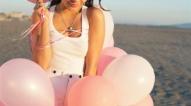 Girl With Balloon Wallpaper For IPhone