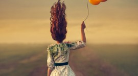 Girl With Balloon Wallpaper For IPhone#1