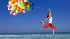 Girl With Balloon Wallpaper Full HD