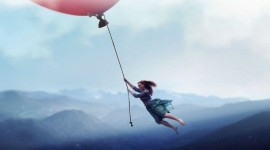 Girl With Balloon Wallpaper HQ