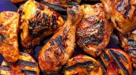 Grilled Chicken Desktop Wallpaper HD