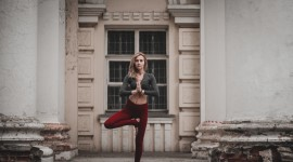 Yoga On The Street Wallpaper Download Free
