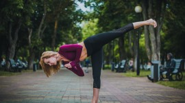 Yoga On The Street Wallpaper Free