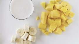 Banana Smoothie High Quality Wallpaper