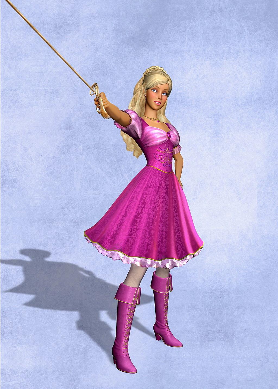 barbie three musketeers movie english