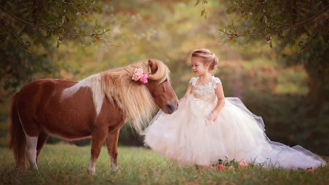 Children And Animals wallpapers high quality