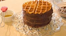 Waffle Cake Desktop Wallpaper HD